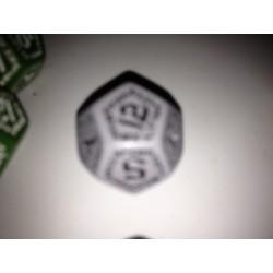 Dado 12 gris con símbolos...