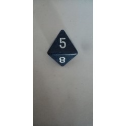 Dado 8 azul moteado mate.