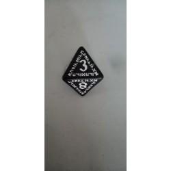 Dado 8 negro con símbolos...