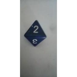 Dado 8 azul oscuro mate.