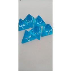 Dado 4 caras azul...