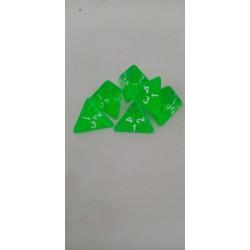 Dado 4 caras verde...