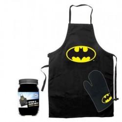 Delantal y guante Batman.