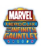 Figuras del set Marvel Infinity Gauntlet de Heroclix.