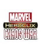 Figuras sueltas del set Heroclix Marvel Chaos War.