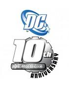 Figuras sueltas y material sellado de la colección 10th DC Heroclix aniversario.