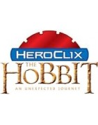 Figuras sueltas y material sellado del set Heroclix The Hobbit: An Unexpected Journey.