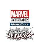 Figuras sueltas y rpoductos sellados del set Heroclix Marvel Amazing Sider-man.