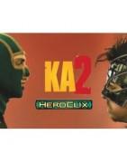Figuras sueltas y material sellado de la colección de Heroclix Kick Ass 2.