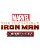 Figuras sueltas y material sellado de la colección de Marvel Heroclix The Invincible Iron Man.
