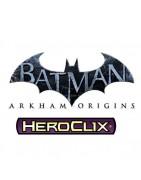 Figuras sueltas y material sellado del set DC Heroclix Batman Arkham Origins.