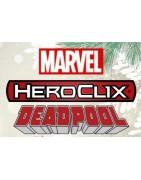 figuras sueltas y material sellado del set Marvel Heroclix Deadpool