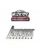 Figuras sueltas y material sellado de la colección de Heroclix Marvel Avengers Assemble.