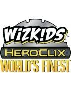 Figuras sueltas y material sellado del set de DC Heroclix World Finest.