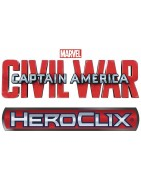 Material sellado y figuras sueltas del set de Marvel Heroclix Captain America: Civil War.