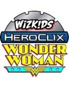 Figuras sueltas y material sellado del a colección DC Heroclix Wonder Woman.
