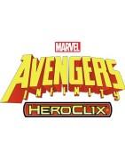 Figuras sueltas y material sellado del set Marvel Heroclix Avengers Infinity.
