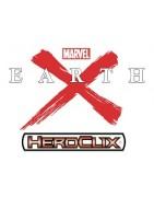 Figuras sueltas y material sellado del set Marvel Heroclix Earth X.