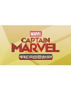 Figuras sueltas y material sellado del set Marvel Heroclix Captain Marvel Movie.