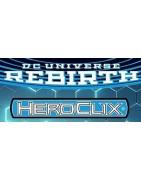 Figuras sueltas y material sellado del set Heroclix DC Rebirth.