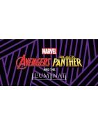 Figuras sueltas y material sellado de la colección Marvel Heroclix Avengers Black Panther and the Illuminati.